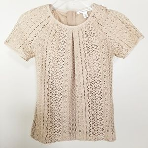 Banana Republic Tan Top Blouse Size 0P (A70)
